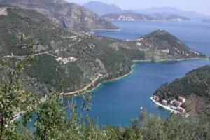 Baai Van Sivota Lefkas Griekenland