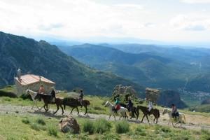 Paardrijden op Lefkas-Griekenland